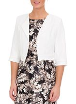 Anna Rose Jacquard Crop Jacket Ivory - Gallery Image 3