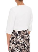 Anna Rose Jacquard Crop Jacket Ivory - Gallery Image 4