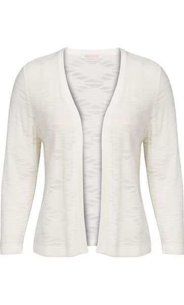 Anna Rose Lightweight Knit Open Cover Up Ivory