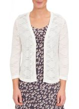 Anna Rose Lightweight Knit Open Cover Up Ivory - Gallery Image 2