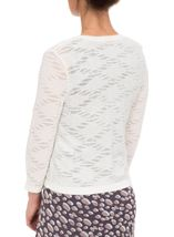 Anna Rose Lightweight Knit Open Cover Up Ivory - Gallery Image 3
