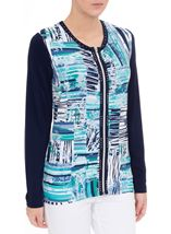 Anna Rose Long Sleeve Jersey Zip Jacket Navy/Teal - Gallery Image 2