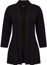 Lightweight Knit Cardigan Black - Gallery Image 1
