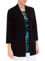 Lightweight Knit Cardigan Black - Gallery Image 2