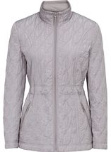 Embroidered Padded Jacket Grey - Gallery Image 1