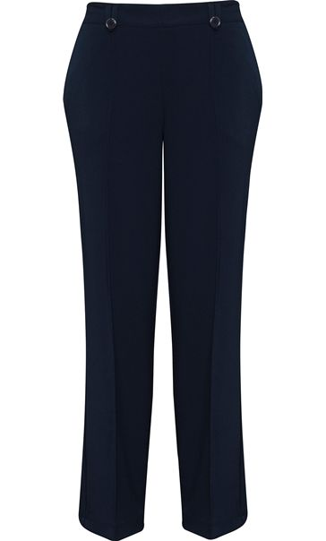 Anna Rose 29 Inch Straight Leg Trouser Navy
