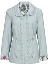 Anna Rose Shawl Collar Lightweight Jacket Green Mix - Gallery Image 1