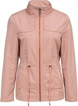 Lightweight Collarless Zip Jacket Blush - Gallery Image 1