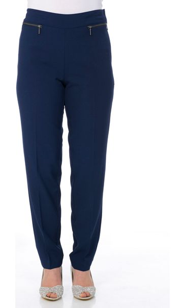 Anna Rose Crepe Trousers Navy