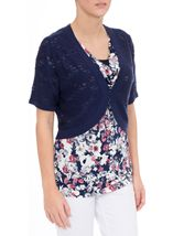 Anna Rose Knitted Open Cover Up Navy - Gallery Image 1