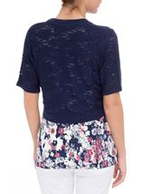 Anna Rose Knitted Open Cover Up Navy - Gallery Image 2