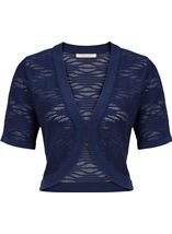 Anna Rose Knitted Open Cover Up Navy - Gallery Image 3