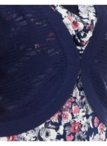 Anna Rose Knitted Open Cover Up Navy - Gallery Image 4