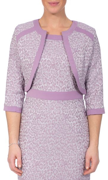 Anna Rose Jacquard Fitted Jacket Lilac
