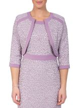 Anna Rose Jacquard Fitted Jacket Lilac - Gallery Image 1