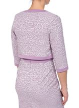 Anna Rose Jacquard Fitted Jacket Lilac - Gallery Image 2