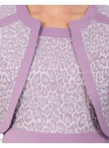 Anna Rose Jacquard Fitted Jacket Lilac - Gallery Image 3