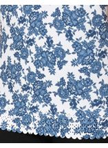 Anna Rose Laser Cut Print Top Navy/White - Gallery Image 3
