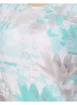 Anna Rose Watercolour Short Sleeve Jersey Top Navy/Teal - Gallery Image 3