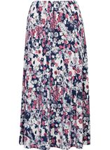 Anna Rose Jersey Panelled Elasticated Waist Skirt Navy/Pink/Ivory - Gallery Image 1