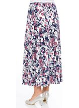 Anna Rose Jersey Panelled Elasticated Waist Skirt Navy/Pink/Ivory - Gallery Image 3