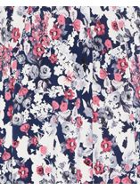 Anna Rose Jersey Panelled Elasticated Waist Skirt Navy/Pink/Ivory - Gallery Image 4