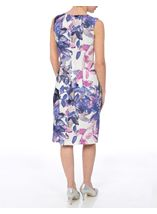 Anna Rose Printed Crinkle Shift Dress Ivory/Pink/Lilac - Gallery Image 3