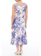 Anna Rose Bias Cut Floral Sleeveless Dress Ivory/Lilac - Gallery Image 2