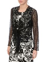 Anna Rose Sparkle Knit Tie Cover Up Black - Gallery Image 1