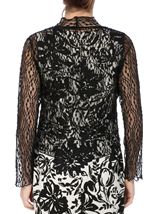 Anna Rose Sparkle Knit Tie Cover Up Black - Gallery Image 2