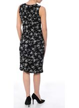Anna Rose Floral Printed Fitted Midi Dress Black - Gallery Image 3
