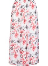 Anna Rose Panelled Floral Printed Chiffon Skirt Woodchip - Gallery Image 1
