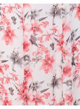 Anna Rose Panelled Floral Printed Chiffon Skirt Woodchip - Gallery Image 4