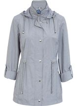 Anna Rose Lightweight Coat Chambray - Gallery Image 1