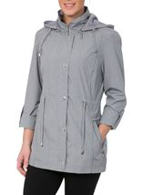 Anna Rose Lightweight Coat Chambray - Gallery Image 2