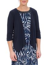 Waterfall Jersey Cover Up Navy - Gallery Image 2