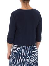 Waterfall Jersey Cover Up Navy - Gallery Image 3