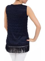 Sleeveless Lace Top Navy - Gallery Image 3