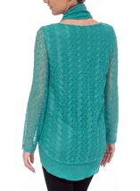 Layered Long Sleeve Scarf Top Jade - Gallery Image 3