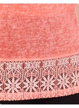 Lace Trim Top Coral - Gallery Image 4