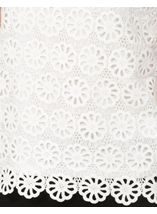 Anna Rose Floral Layer Crochet Short Sleeve Top White - Gallery Image 4