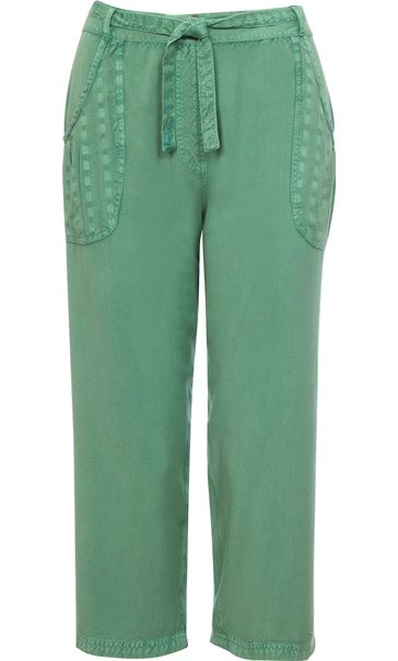 Anna Rose Cropped Wide leg Trousers Green
