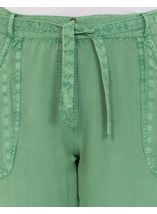 Anna Rose Cropped Wide leg Trousers Green - Gallery Image 4