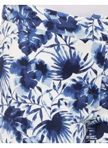 Floral Print Scuba Trousers Navy - Gallery Image 4
