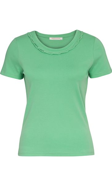 Anna Rose Short Sleeve Jersey Top Zinc