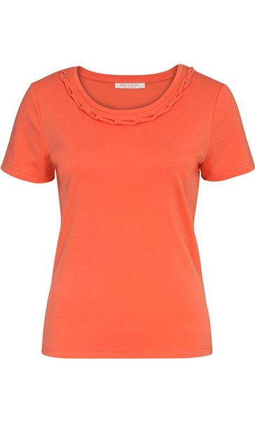 Anna Rose Short Sleeve Jersey Top Orange