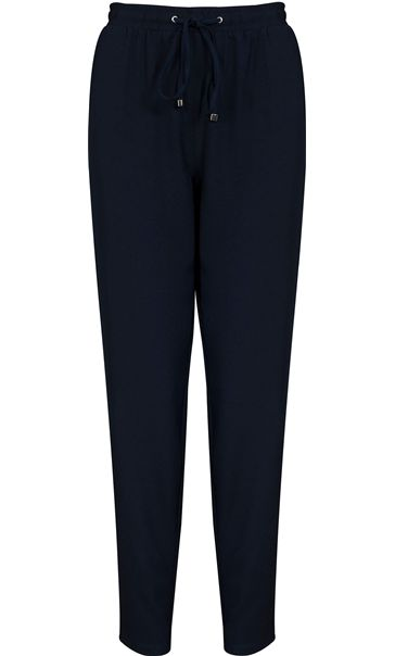 Anna Rose Tapered Elasticated Waist Trousers Navy
