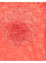 Anna Rose Embellished Lace Layer Top Coral Rose - Gallery Image 4