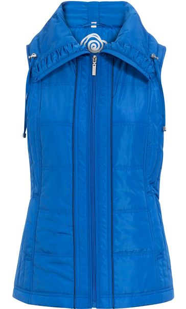 Anna Rose Ruched Collar Gilet Blue