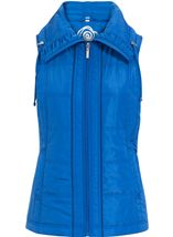 Anna Rose Ruched Collar Gilet Blue - Gallery Image 1